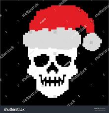 Ascii Art Christmas Tree Small by Christmas Pixel Skull Stock Vector 350534495 Shutterstock
