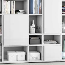 weißes wohnzimmer regal in hochglanz tinello