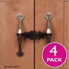 Child Proof Cabinet Locks Walmart by Kiscords Childproof Cabinet Locks For Handles 4 Pack Black