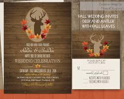 Elegant Fall Wedding Invitations Rustic Polandfarm