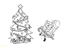 Spongebob Christmas Coloring Pages Free Printable Home Colouring For Preschoolers