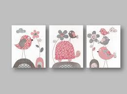 lot de 3 illustrations pour chambre d enfant et bebe gris