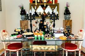 Creative Party Tables Treats Of Dining Room Table Decorations Halloween