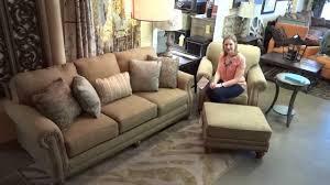 Ashley Larkinhurst Sofa Set by Ashley Furniture Prelude Champagne Sofa U0026 Chair 558 Review Youtube