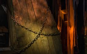 Halloween Horror Nights Theme 2014 by Universal Orlando Close Up Four Horrific Original Houses
