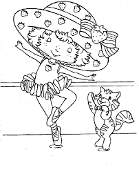 Dancing With Cats Coloring Pages For Kids Printable Ballet And Ballerina
