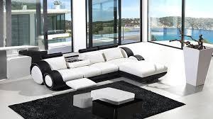 canape d angle noir et blanc canapés d angle cuir mobilier cuir