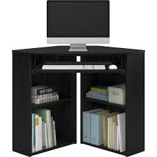 Mainstays Computer Stand Instructions by Mainstays Corner Desk Black Walmart Com