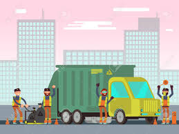 100 Waste Management Garbage Truck And City Collection For Recycling Vector