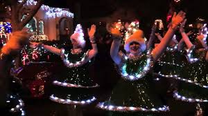 Alameda Christmas Tree Lane 2015 by Tap Dancing Christmas Trees Of Alameda Youtube