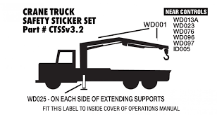 100 Truck Mounted Cranes Tray Style Safety Sheet Safety