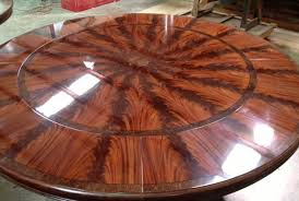 Seats 10 12 People Formal Oversized Round Mahogany Dining Table