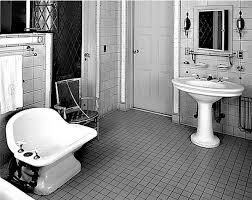 elements of a vintage bath cove molding pedestal sink subway
