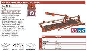 dta australia ishii pro series 650mm tile cutter