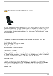 Calaméo - X Rocker Pro Series Pedestal Gaming Chair X Rocker Pro Series Video Gaming Chair With Wireless Pro Details About Pedestal 21 Audio Black Bluetooth Speakers Gamer Blue Xrocker Se Sound Transmission Rocking Deluxe 41 Luxury Fabric System And Subwoofer Grey 5172301 Rocker Gaming Chair Xrocker Vibe User Manual Ace Dac Infiniti Chairs Competitors Revenue Employees 51396 On Flipboard By Susan Mars Torque Nordic Game Supply