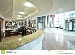 Modern Hotel Reception Desk Stock Photo 34865408
