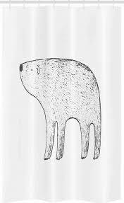 abakuhaus duschvorhang badezimmer deko set aus stoff mit haken breite 120 cm höhe 180 cm eisbär gezeichnetes tier kaufen otto