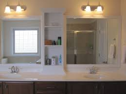 bathroom cabinets beautiful white bathroom mirrors with shelf