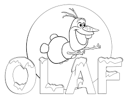 Olaf Free Coloring Page