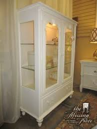 lighted display cabinet in a medium finish this would be