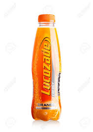 100 Studio 24 London LONDONUK SEPTEMBER 2017 Bottle Of Lucozade Orange Energy