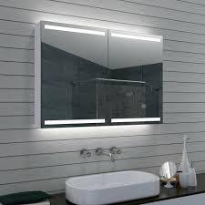 aluminium led beleuchtung badezimmer spiegelschrank dimmbar 100cm