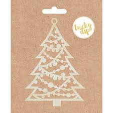 Lucky Dip Wood Flourish Christmas Tree 475inX475in