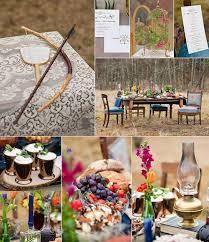 Hunger Games Inspired Plum Orange Blue Wedding Decoration And Food Inspiration