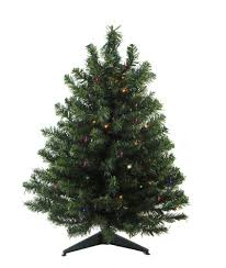 18 Pre Lit Natural Two Tone Pine Artificial Christmas Tree Multi Color Lights