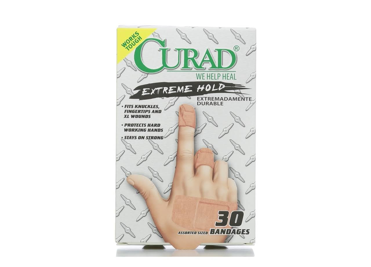 Curad Extreme Hold Bandages - 30's