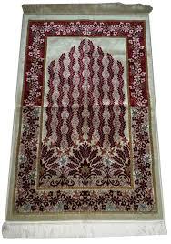 Aydin Turkiye Muslim Rug Islamic Velvet Sajadah Carpet Musallah Gift Red Floral Pattern Designs