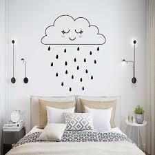 wolke mädchen regnet diy kunst wand aufkleber niedlichen kinder kinder schlafzimmer dekoration aufkleber wandbild decals tapete poster