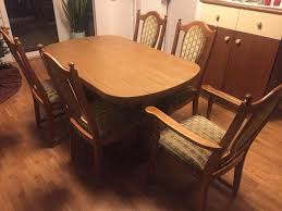 stuhl tisch stühle ausziehbar esszimmer eiche rustikal
