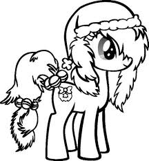 Cute Little Pony Christmas Coloring Pages