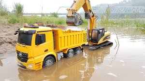 100 Dump Trucks Videos Excavators Work Under The River Truck Videos For Kids Car