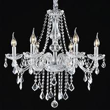 Boshen Crystal Chandelier 6 Lights Fixture Pendant Ceiling Lamp For Dining Room Living Decoration