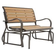 Patio Furniture Loveseat Glider by Jordan Manufacturing Alpine 4 Ft Outdoor Loveseat Glider Hayneedle