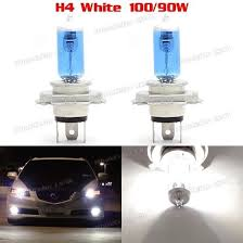 awesome 2x h4 4500k white xenon hid halogen headlight bulbs for