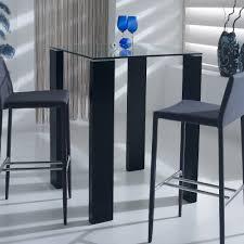 table cuisine verre trempé table de bar carrée en bois et verre trempé hauteur 103cm ab