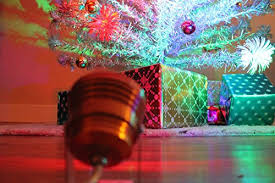 COLOR WHEEL 20 For Vintage Silver Pom Artificial Retro ALUMINUM CHRISTMAS TREE Rotating LED Colour Changing Light MCM Vtg Xmas Mid Century Modern