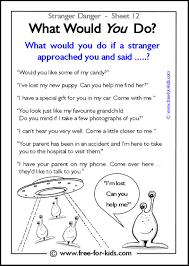 Halloween Acrostic Poem Worksheet by More Stranger Danger Worksheets And Colouring Pages