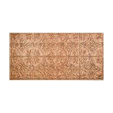 Home Depot Ceiling Tiles 2x4 by Fasade Traditional 2 2 Ft X 4 Ft Glue Up Ceiling Tile In