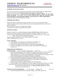 Sample Resume Of Net Developer Examples And For Experienced