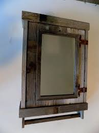 Craftsman Medicine Cabinet Rustic With Mirror 2 Mission Style Recessed