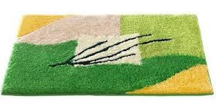 badematte grün gelb beige wollweiss 2tlg bad garnitur oder bad teppich neu ebay