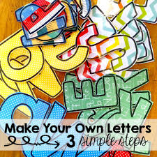 DIY bulletin board letters that won t use up all of your ink or time