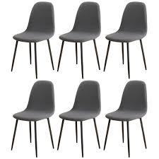 esszimmerstühle bezug 6er set jacquard stoff gepolstert esszimmer stuhlhussen shell oval grau