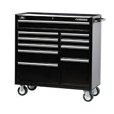 100 Service Truck Tool Drawers Husky 41 In 10Drawer Rolling Cabinet Chest In BlackH4116TR