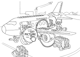Lego Airport Coloring Page For Kids Printable Free Duplo