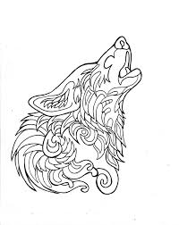 Howling Wolf Coloring Page